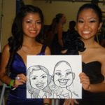 art party caricaturist for events