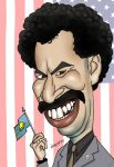 illustration of funny famous borat