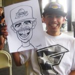 guy loves caricature smiling
