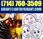 cartoon drawing of mother and children 7147603509