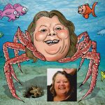 crab lady drawing from photo