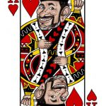man drawn as playing card