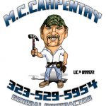 caricature logo for carpentry business