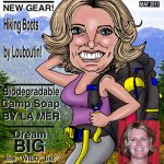 backpacker magazine cartoon lady