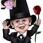 kid with rose drawing from picture