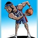 cartoon drawings of famous athletes