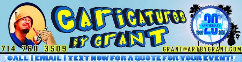caricatures by grant los angeles banner